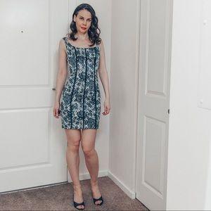 Bodycon silky mini dress